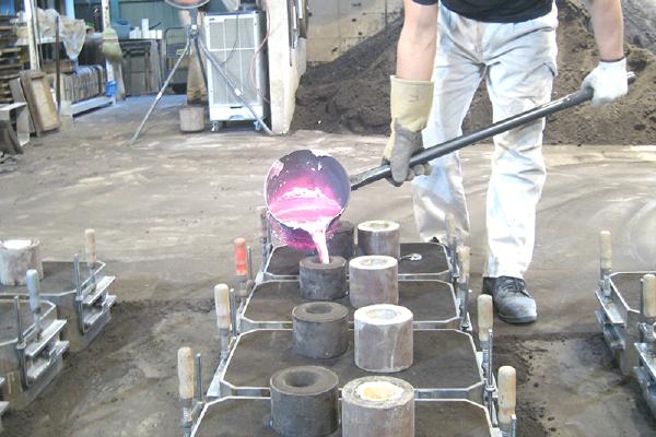 生型鋳造の流れ 鋳造