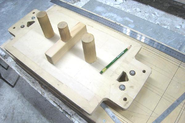 プレート型鋳造の流れ 木型作成