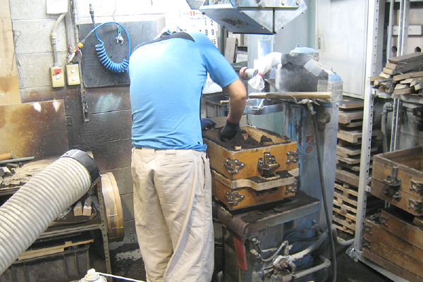 プレート型鋳造の流れ 鋳型作成