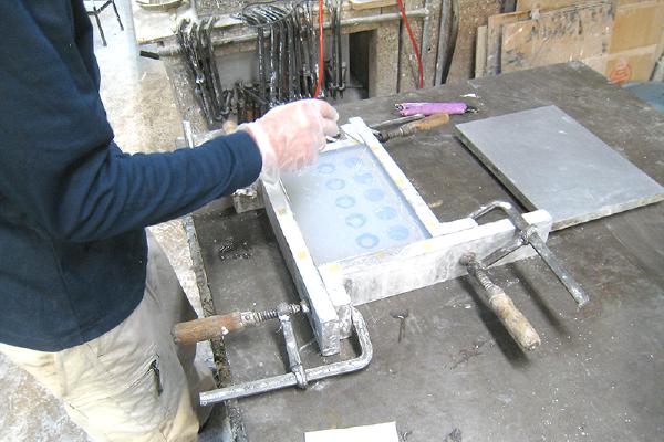 石膏鋳造の流れ シリコン型作成