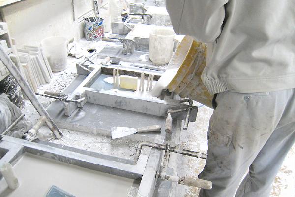 石膏鋳造の流れ 石膏鋳型作成
