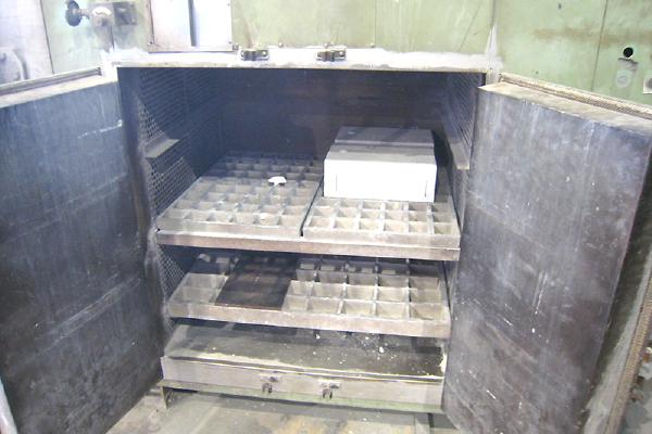 石膏鋳造の流れ 鋳型乾燥