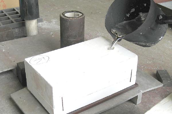 石膏鋳造の流れ 鋳造
